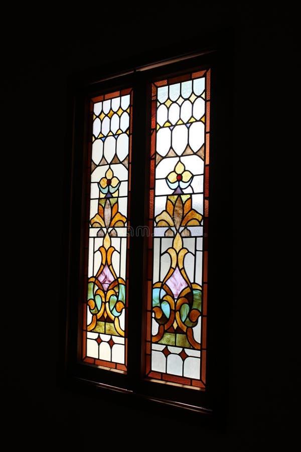 Old Adobe Mission, Our Lady of Perpetual Help Catholic Church, Scottsdale, Arizona, United States. Stain glass at Old Adobe Mission, Our Lady of Perpetual Help royalty free stock photo