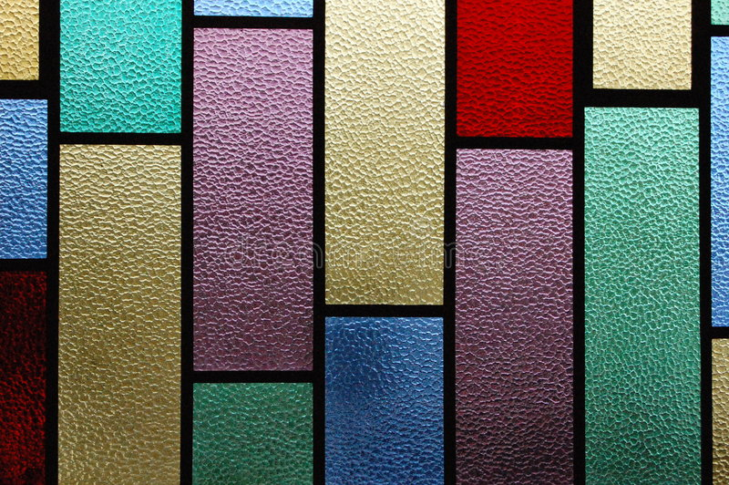 Stain Glass Window. A Stain glass window in a church stock images