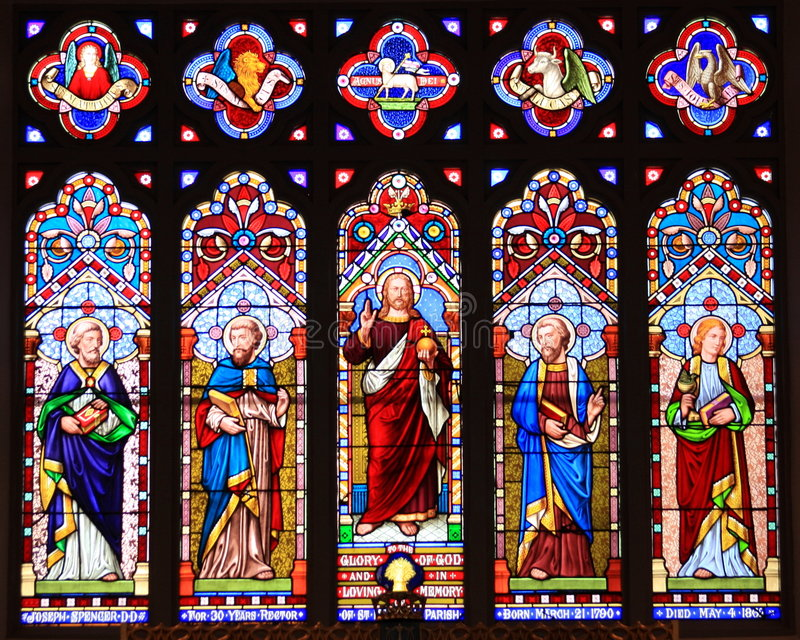 Download Stain Glass Window stock photo. Image of bible, michaels - 6582394