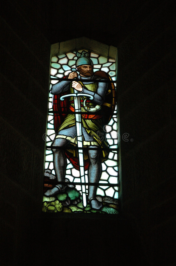 Stain-glass Window, Wallace Monument royalty free stock photos