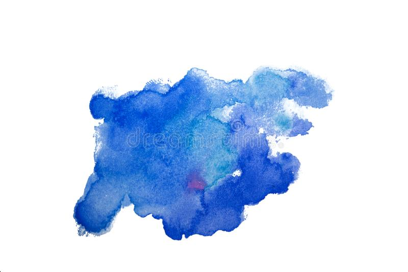 Stain watercolor splash background. Colorful illustration of watercolour drops drips and blots. Blue and pink. Isolate. vector illustration