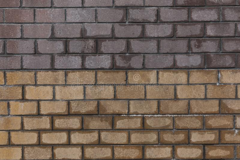Old brick wall texture background,white-yellow-brown brick wall stock photos