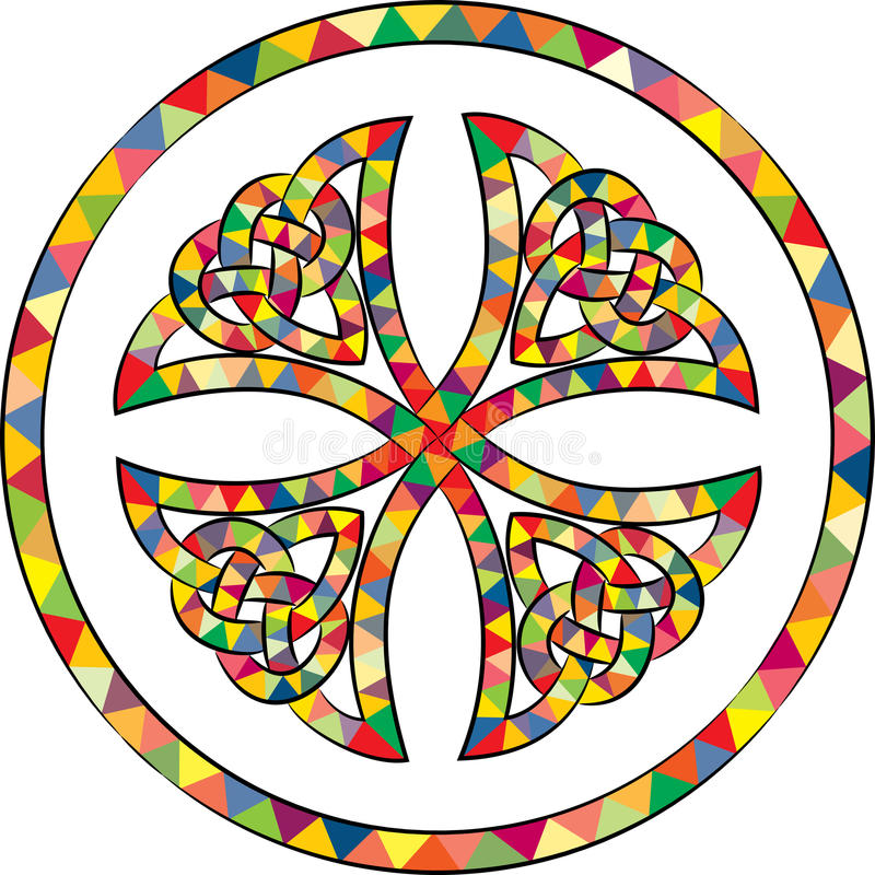 Stained celtic knot cross stock illustration