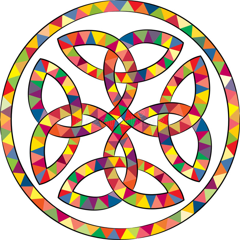 Stained celtic knot cross vector illustration