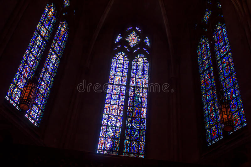 Stained Chapel Windows royalty free stock images