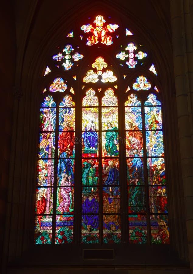 Stained-glass παράθυρο στοκ φωτογραφία