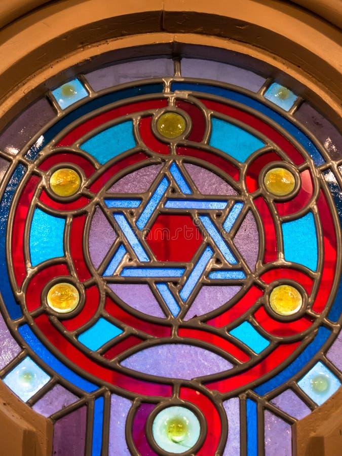 Stained-glass συναγωγής παράθυρο στοκ εικόνες