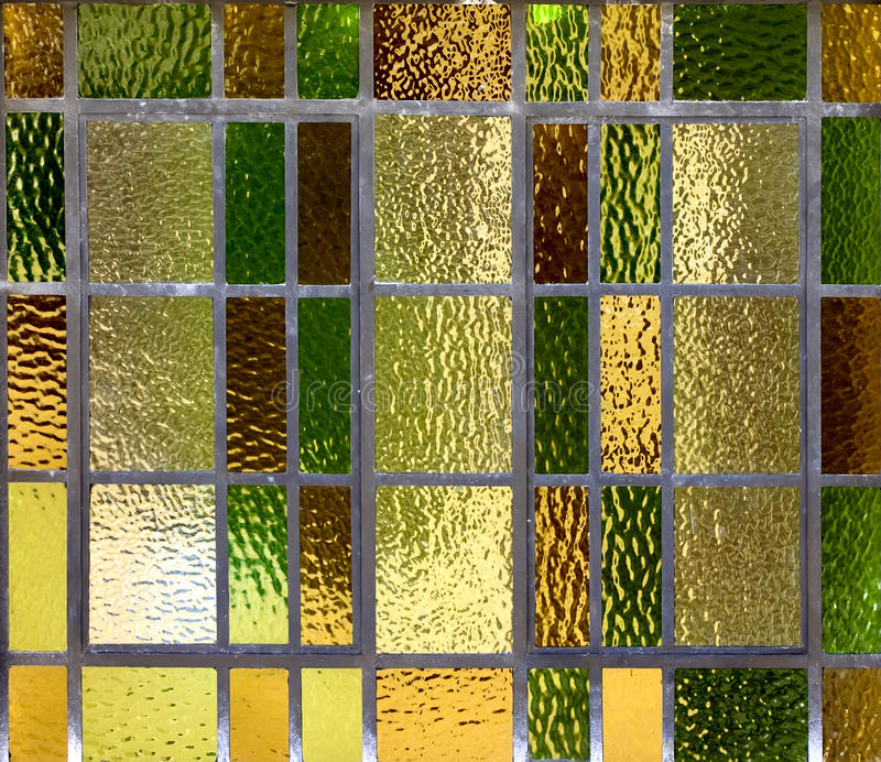 Stained glass. In an old window stock image
