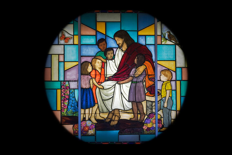 religious stained glass window royalty free stock photography