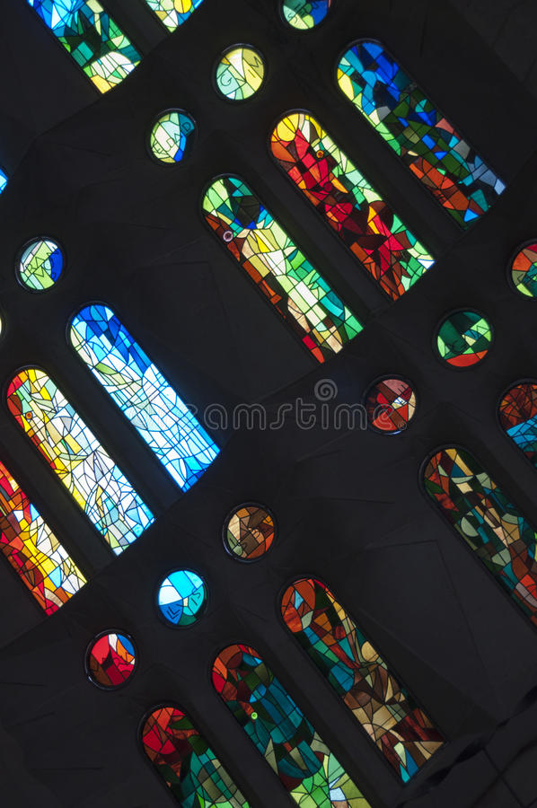 Download Stained glass stock image. Image of black, burd, abbey - 23567563