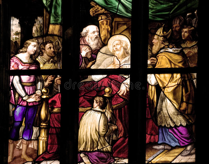 Download Stained glass stock image. Image of european, italy, biblical - 24234517