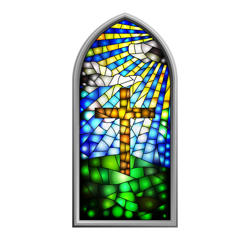 Download Stained Glass stock vector. Image of cathedral, resurrection - 26085120