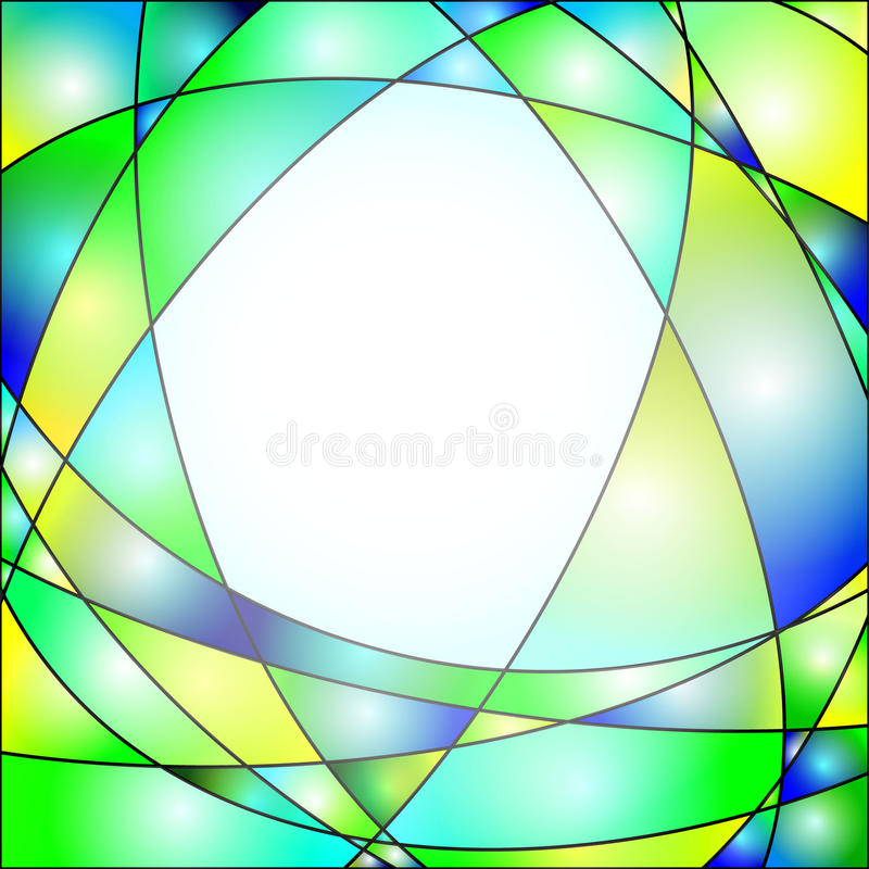 Download Stained Glass stock illustration. Image of green, translucent - 26221075