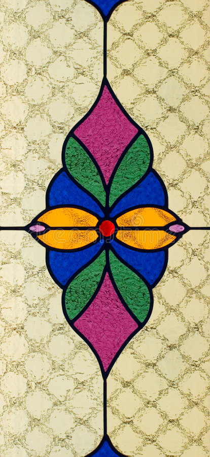 Stained glass royalty free illustration