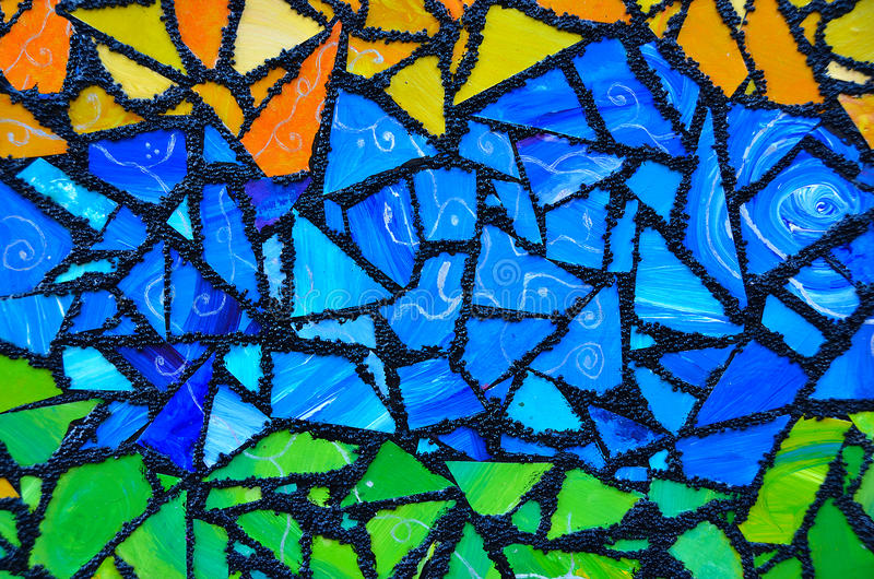 Stained glass abstract stock photo