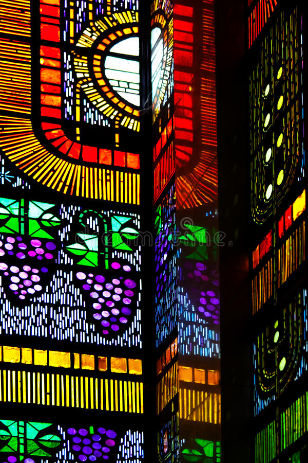 Stained Glass Background. From a Cathlolic Church royalty free stock photo