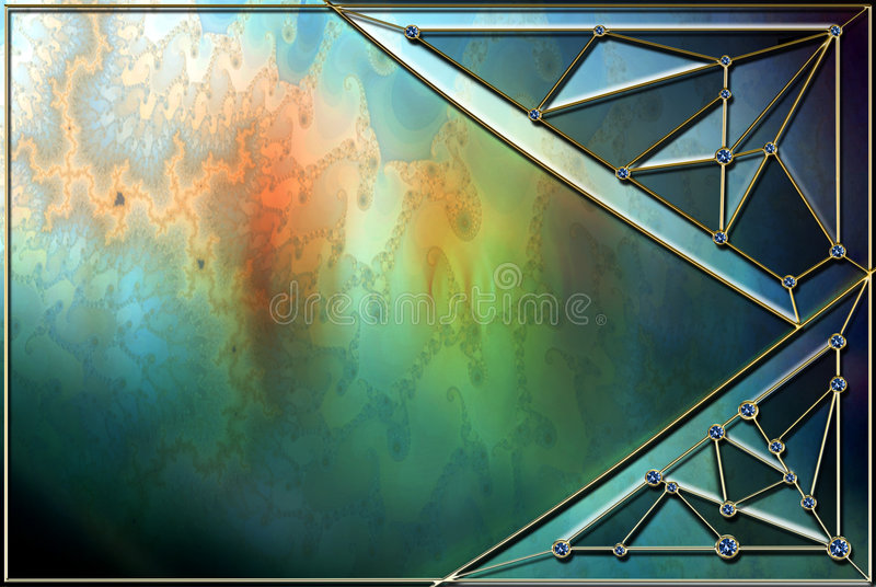 Stained Glass Background Layout vector illustration