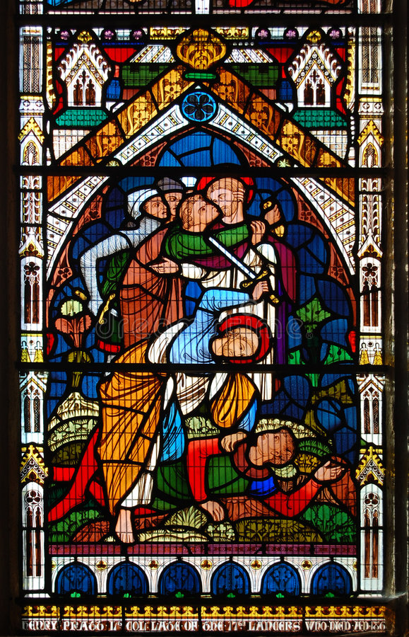 Stained glass in the Cathedral Church of the Holy