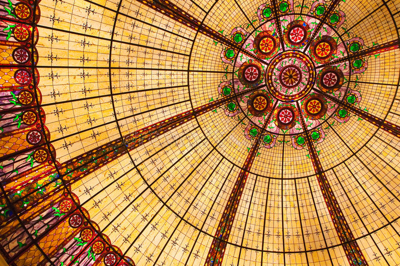 Stained Glass Ceiling stock images