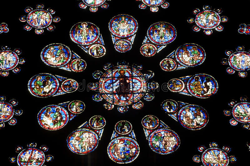 Download Stained Glass From Chartres Cathedral Stock Image - Image of catholicism, sanctuary: 13331121