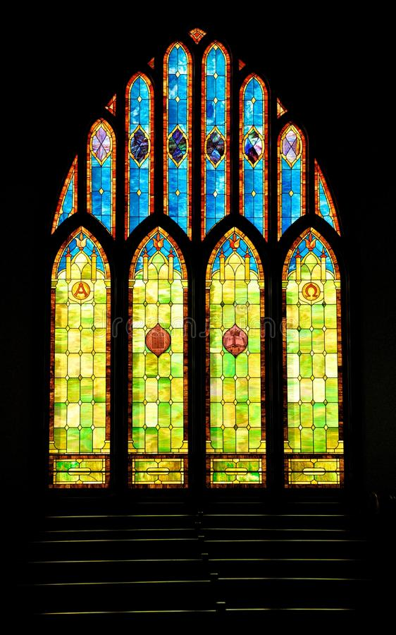 Free Stained Glass Christian Church Window In Hawaii Royalty Free Stock Photo - 30733765