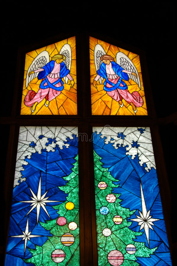 Stained Glass Christmas Tree Royalty Free Stock Photos - Image ...
