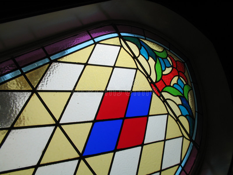 Download Stained glass in church stock image. Image of colors, geometric - 10045