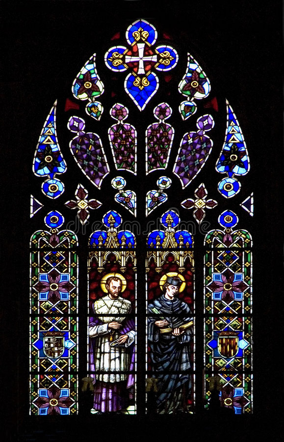 Free Stained Glass Church Window On Black Royalty Free Stock Photo - 5190675
