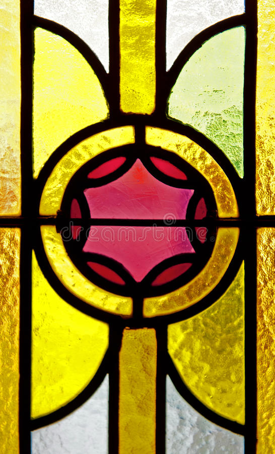 Stained glass. A close up of the stained glass royalty free stock photography