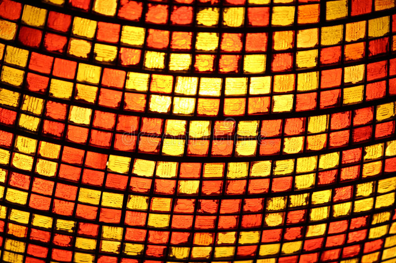 Stained Glass. Close up of a stained glass lighting fixture royalty free stock photography