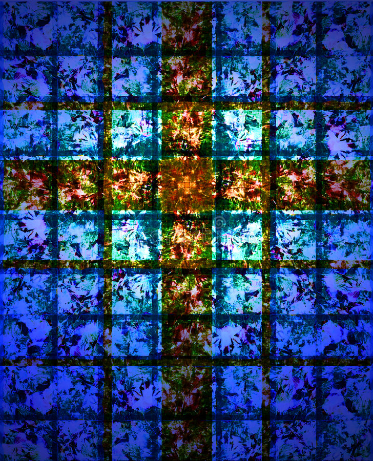 Stained Glass Cross royalty free illustration