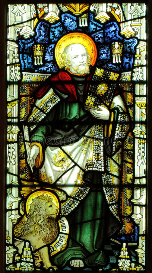 Download Stained Glass Depicting St Mark Stock Image - Image: 28155247