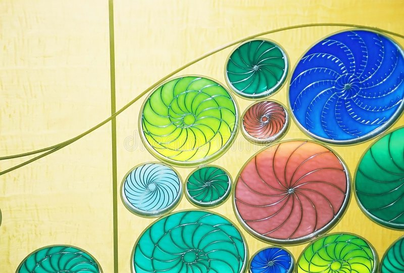 Stained glass design stock images