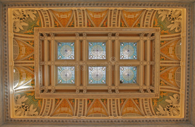 Stained Glass Dome, Library