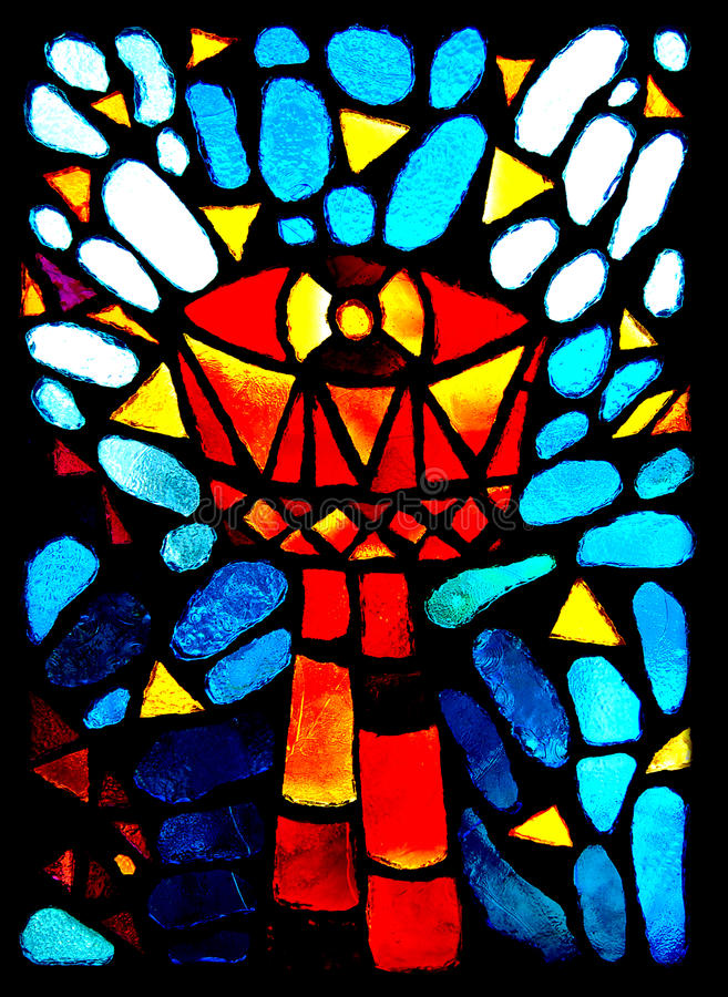 Stained glass goblet royalty free stock photo