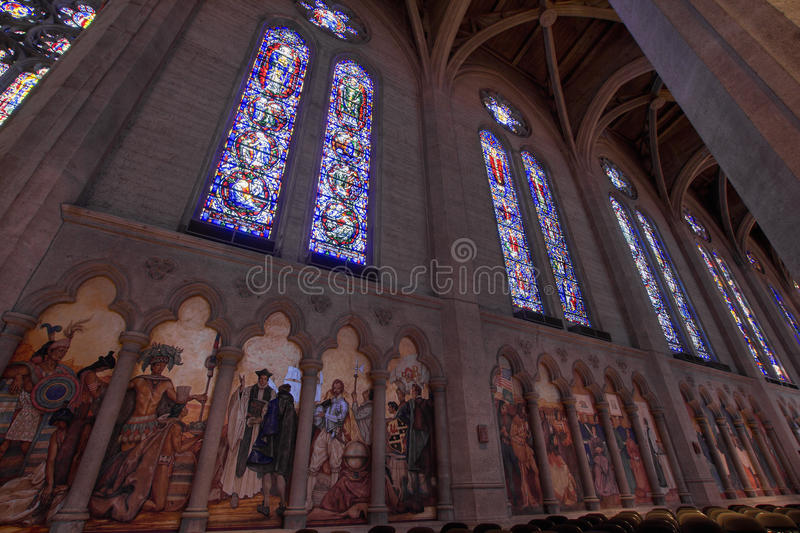 Stained Glass Grace Cathedral stock photography