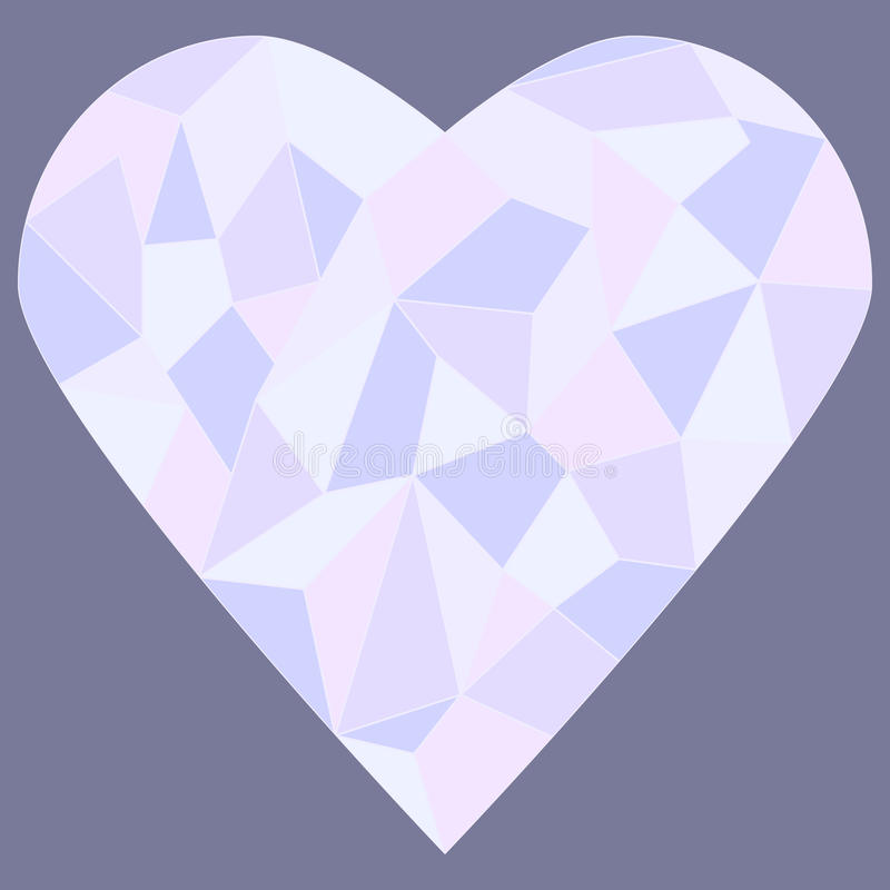 Stained glass hear. Heart made of stained glass vector illustration