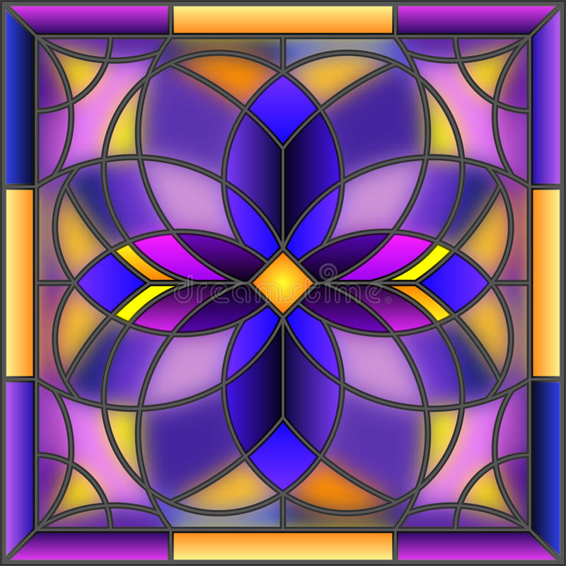 Stained glass illustration geometric abstract picture vector illustration