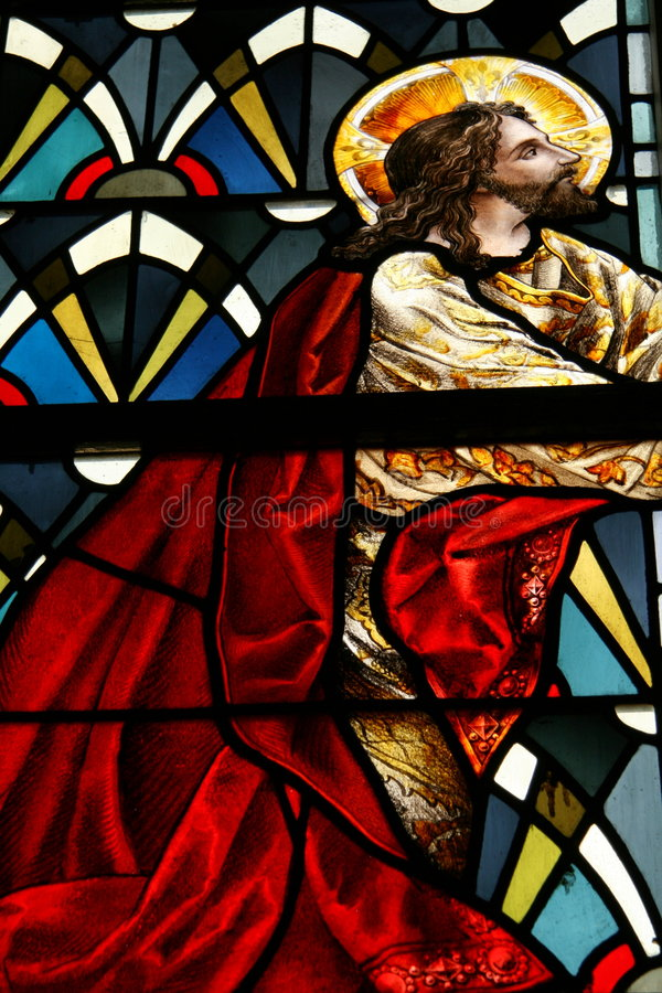 Download Stained glass Jesus stock photo. Image of devotion, abbey - 7092168