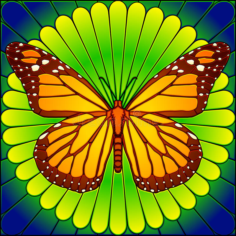 Download Stained glass monarch stock vector. Image of monarch - 13488266