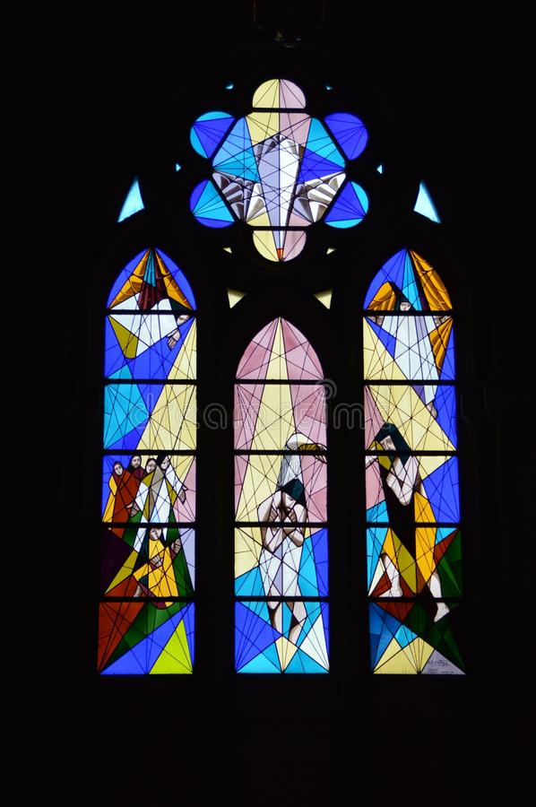 Stained Glass Panes In Church Free Public Domain Cc0 Image