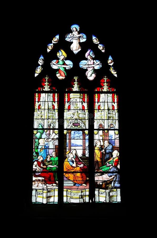 Stained-glass - religione fotografia stock libera da diritti
