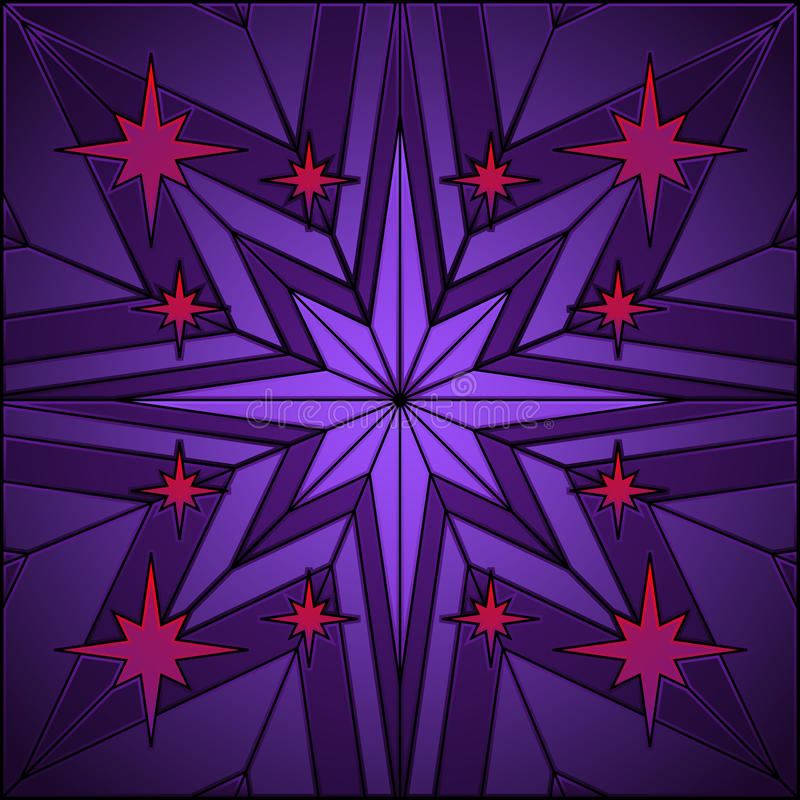 Download Stained glass star stock vector. Image of background - 13785626