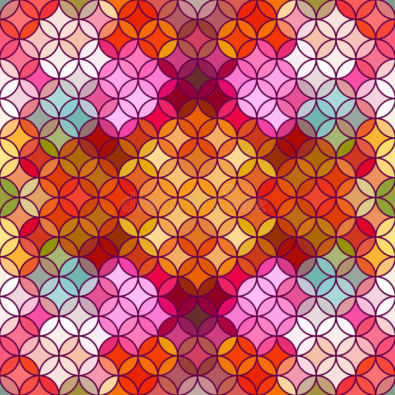 Stained Glass Vector Background. Beautiful Seamless