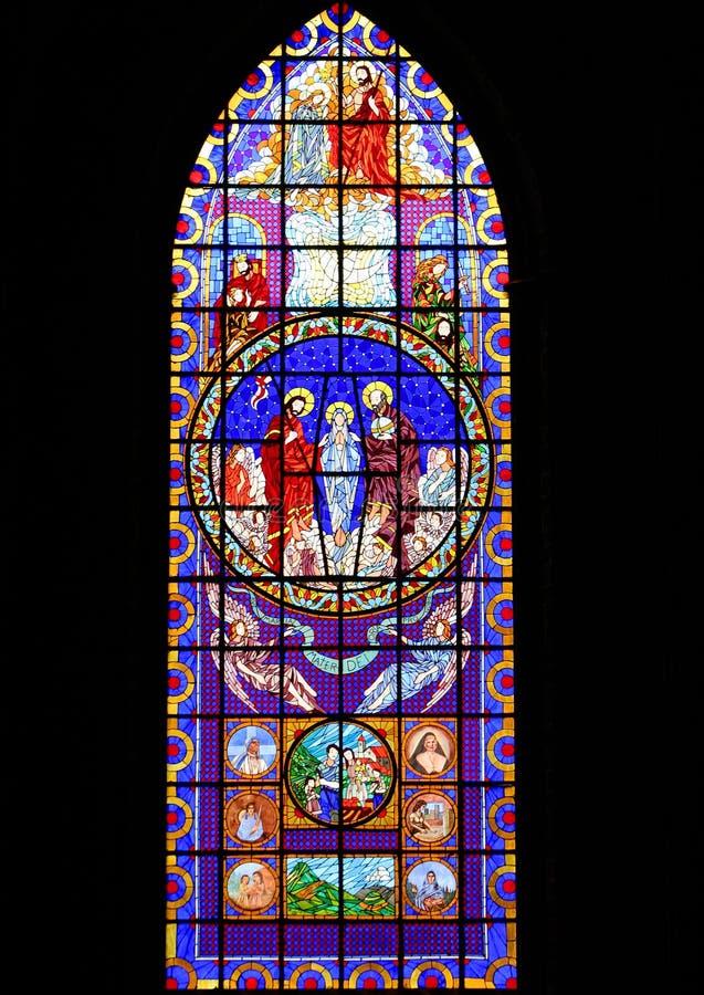 Stained-glass venster royalty-vrije stock fotografie