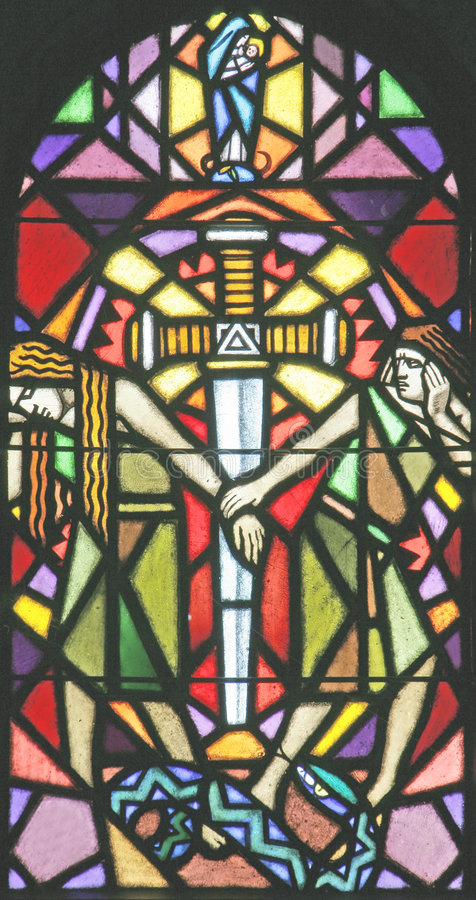 Stained-glass Venster 51 royalty-vrije stock afbeelding