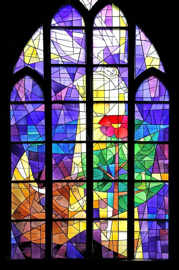 Stained-glass Venster 7 royalty-vrije stock afbeeldingen