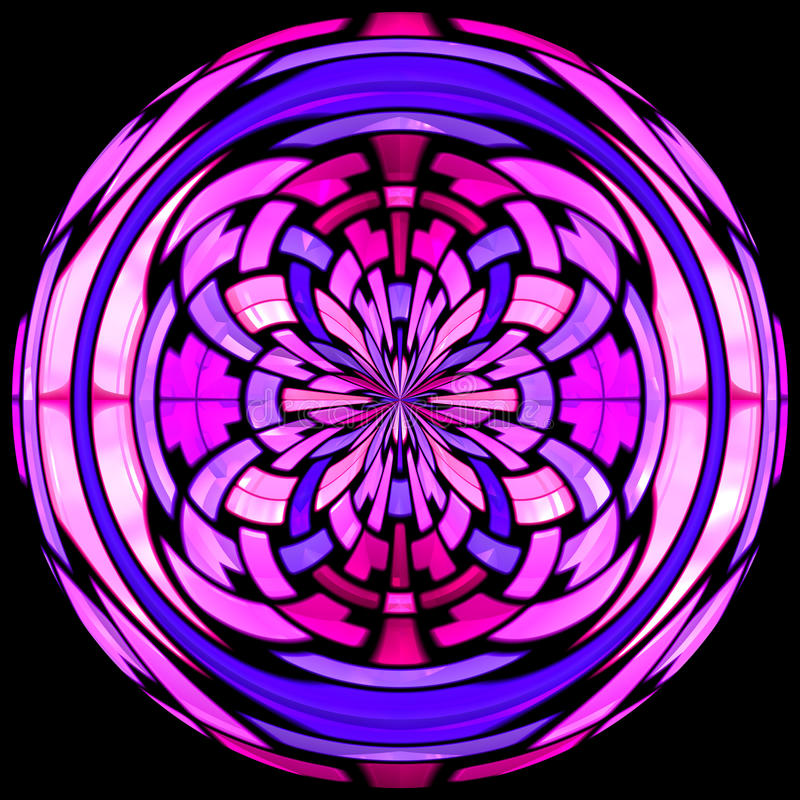 Stained glass vitrage with abstract pattern royalty free stock photography