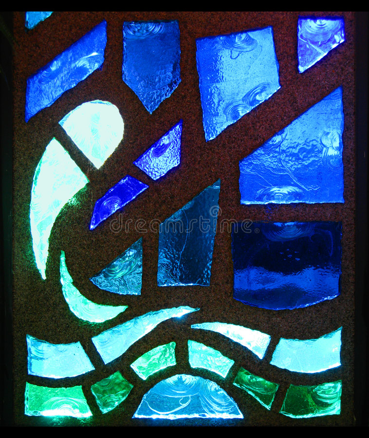 Stained Glass Wave. A stained glass window wave stock photo