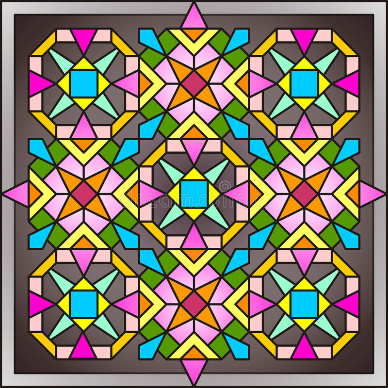 Stained-glass window 005 royalty free stock image